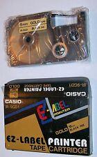 Genuine Casio EZ Label Printer Cartridge IR-9GD1 gold tape black ink 9 mm