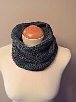 Hand Crocheted Snood / Cowl - Luxurious Chunky Snood - Green Mix