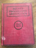 Milne's New York State Arithmetic First Book by William J Milne HC 1906