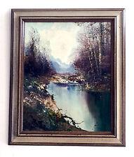 """Vintage Framed Oil On Canvas By German Artist Kort ( 1928- ) 20.5"""" X 24.5"""""""
