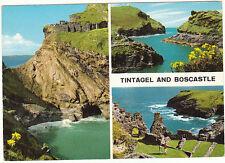 unused Postcard Cornwall, John Hinde,  Boscastle & Tintagel, 2dc88