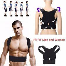 Black Posture Corrector Back Brace Support Shoulder Belt Adjustable Women & Men
