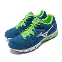 Mizuno Synchro MD Blue Green White Silver Men Running Shoes Sneakers J1GE1618-03