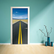 Decal Photography Mural Door Road Decoration Home Wall Sticker 86cm x 200cm