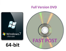 Windows 7 Ultimate 64-Bit Bootable DVD d'installation version complète SP1 Disc CD
