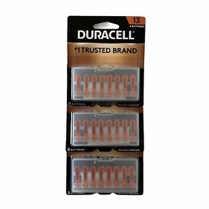 8 Pack Duracell Size 13 Batteries x 3 Packages March 2022 for Hearing Aids NEW