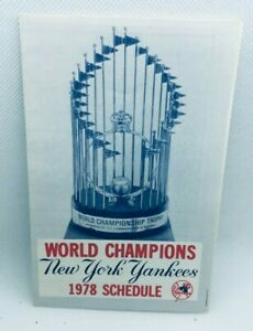 1978 New York Yankees Baseball Schedule Ballentine Beer #D