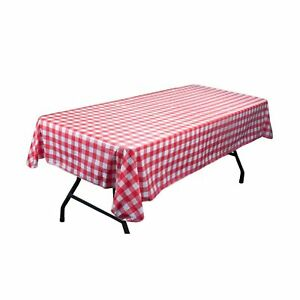 Red and White Vinyl Table Cloth with Flannel Backing by Pudgy Pedro's Party S...
