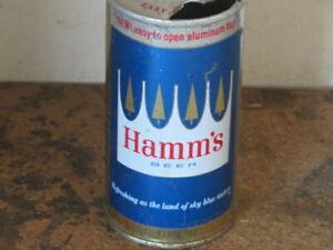HAMMS BEER. NICE. 11 OZ VARIATION. STEEL. FLAT TOP