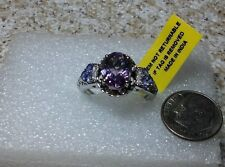 Bahia Amethyst ,Tanzanite Platinum over Sterling Silver Ring (size 9) TGW 3.000