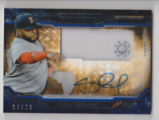 PABLO SANDOVAL 2015 Topps Strata Clearly Authentic Blue Jersey Auto /99 Red Sox