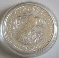 Australien 1 Dollar 2015 Kookaburra Lunar Ziege Privy 1 Oz Silber