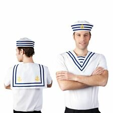 Sea Bib Sailor Navy Collar Fancy Dress Costume Accessory Womens Mens Nautical