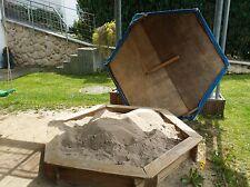 Sandkasten INGAR 0419 6-eckig Nadelholz Abdeckplane stabile Holzabdeckung XXL 2m