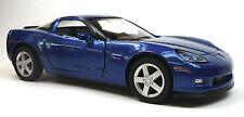 2007 CHEVROLET CORVETTE c6 z06 bleu modèle de collection 1:36 de Kinsmart article neuf!