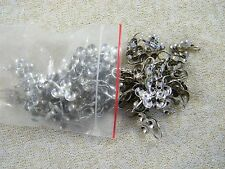 (28) PAIRS SILVER TONE 3-SPOT CLIP EARRING FINDINGS / JEWELRY MAKING