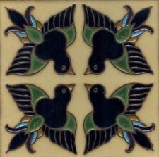 "Hand-Painted 6x6 Decorative Tiles  ""Birds""  ~ Frost Resistant ~ Custom Orders"