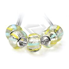 5pcs New Lampwork Murano Glass Beads For Charm Bracelets Necklace 14*10/14*8.5mm