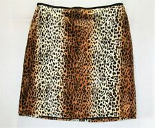 SUSSAN Brand Fur Animal Print Fitted Skirt Size 14 BNWT #SB104