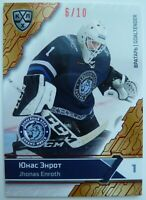2019 New Sereal KHL Premium Collection 6/10 Jhonas Enroth Parallel Card