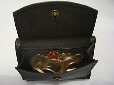 Leder Trifold Wallet with Coin Pocket, Reißverschluss hinten, Visitenkarte Space