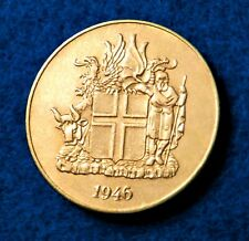 1946 Iceland 2 Kronur - Fantastic Coin with Low Mint - SEE PICS