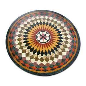 "36"" Marble center Table Top Pietra Dura Handmade inlay art work"