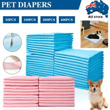 50-400 x Pet Dog Cat Training Pads Absorbent Indoor Puppy Toilet Pee Pad 60x60cm