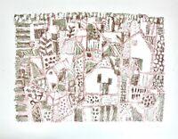 "Eduard Bargheer (1901-1979) signierte Farblithographie, ""Blankenese"", 1965"
