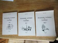Dictionnaire technique de l'estampe 3 vol. Abrasif à Zincographie BÉGUIN 1977