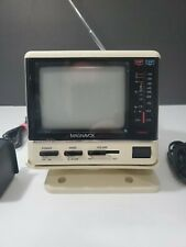 Vintage TV B/W MAGNAVOX Portable 12 Vdc TV With manual.
