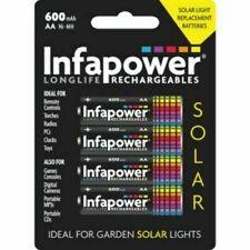 Infapower Aa Recargable Luz Solar Baterías NI-MH 1.2v 600mAh B008 Paquete De 4