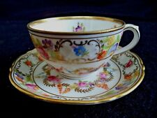 Dresden Flowers china demitasse cup saucer demi Schumann Germany roses garlands