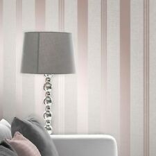 QUARTZ papier-peint rayé doré rose - décor fin fd42205 pailleté chatoyant
