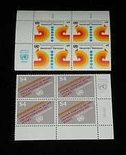 U.N.1980-1981,VIENNA #11 & #17, GENERAL ISSUES. INSCRIPTION BLKS/4, NICE!! LQQK!