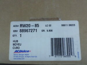 88967271 (RW20-85) - Hub & Bearing - GM ACDelco OE Service