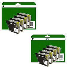 8 Black Ink Cartridges for Brother DCP-J125 J140W J315W J515W non-OEM LC985