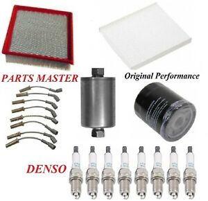 Tune Up Kit Filters Wire Plugs Fit GMC SIERRA 1500 HD V8; 6.0L; ROUND COIL 2003