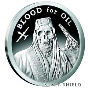 2017 Silver Shield 1 oz Blood for Oil Silver Proof .999 SSG DOTD #4