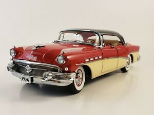 "Danbury Mint 1956 Buick Roadmaster Riviera ""CARLSBAD BLACK/SEMINOLE RED"" 1:24"