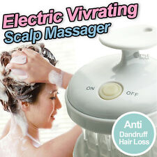 WATERPROOF Electric Vibrate Scalp Massager Head Hair Care Massage Shampoo Brush