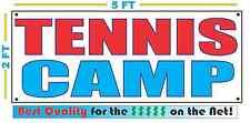 TENNIS CAMP Banner Sign NEW 2x5 RWB