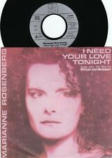 Marianne Rosenberg ORIG GER PS 45 I need your love tonight NM '89 Hansa Euro Pop