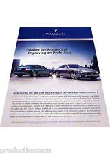 2009 Maserati Quattroporte - perfection duo -  Classic Advertisement Ad A40-B