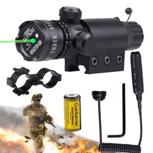 Tactical Police Green Laser Beam Dot Sight Scope For Gun Rail Pistol 16340 USA