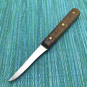 "Vintage CHICAGO CUTLERY 102S Paring Peeling Knife 2 3/4"" Blade Walnut Handle USA"