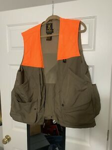 browning orange and brown quilted hunting vest size large