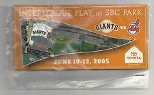 2005 San Francisco Giants Cleveland Indians Interleague Pin SGA 06/10/2005