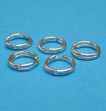10 Stück Spaltringe 7 mm 925 Silber Schmuckzubehör