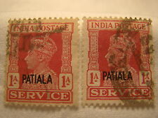 India Patiala Stamp 1940 Scott O67 O8  1 Anna Set of 2